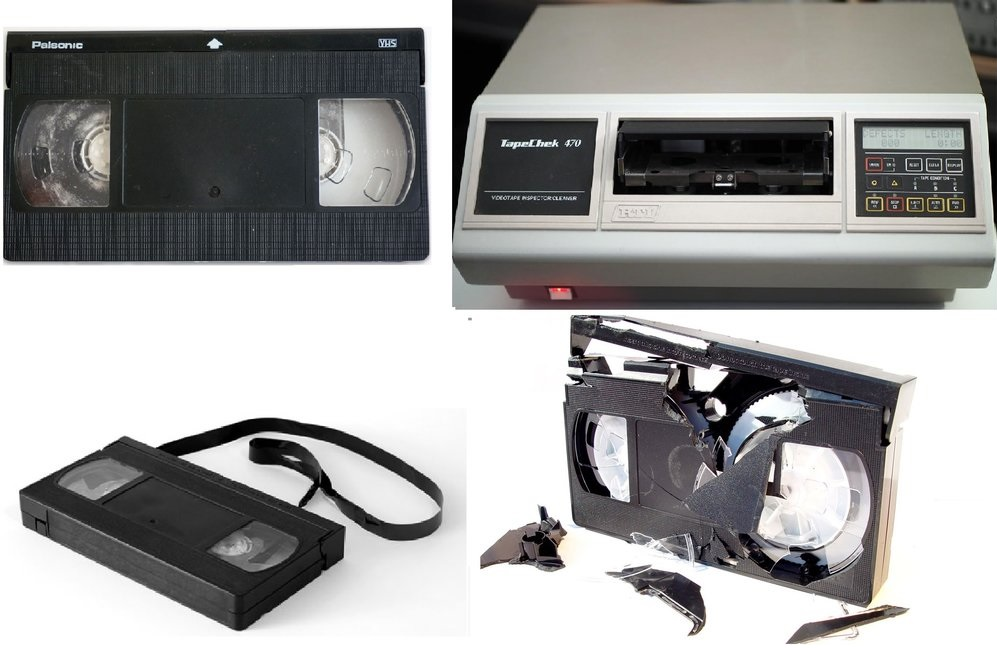 clean video tapes from mold mildew build up - repair VHS tapes - Hi8 tape cleaner - minidv cleaning service